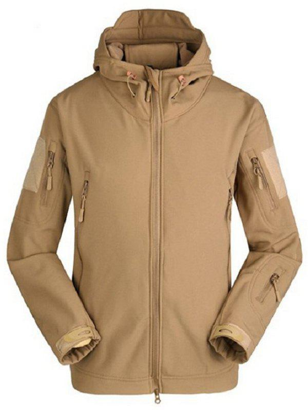 Trendy Veste Soft Shell respirante et imperméable Marron Camel S
