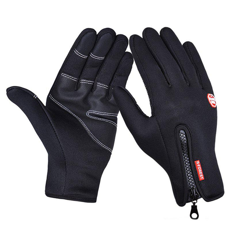 Hot Touch Screen PU Waterproof Zipper Gloves