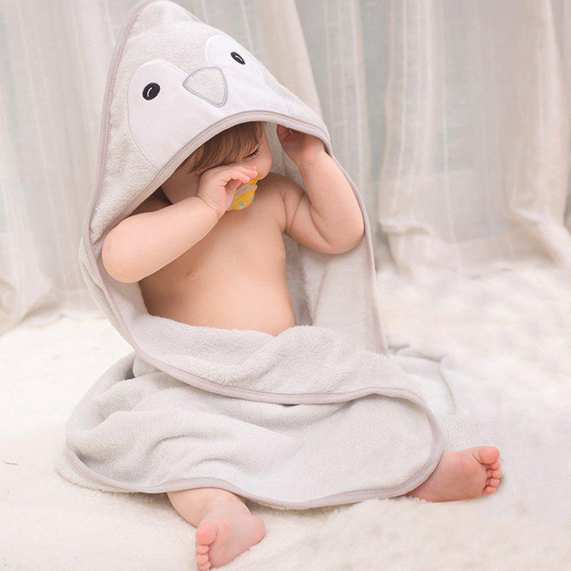 Affordable Baby Hooded Bath Towel Cartoon Cloak 85 x 85cm