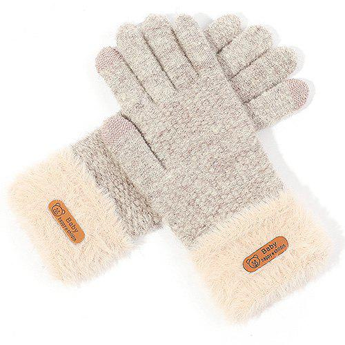 Shops Ladies Winter Outdoor Knit Wool Touch Screen Gloves
