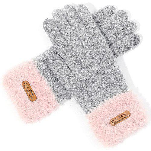 Discount Ladies Winter Outdoor Knit Wool Touch Screen Gloves