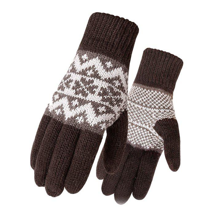 Outfits Men's Thicken Warm Wool Knitting Gloves