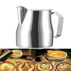 304 Stainless Steel Pull Flower Cylinder Fancy Milk Cup Coffee Appliance 500ml -