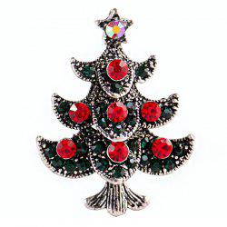 Creative Bell Deer Cane Christmas Tree Pentagram Snowman Brooch -