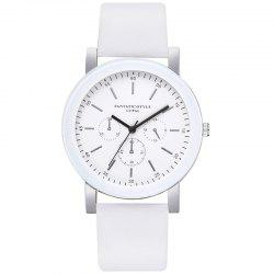 Lvpai P674 Fashion Three-eye Casual Candy Color Belt Student Watch -