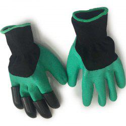 Garden Planting Excavating Dipped Gloves Protective Insulation Gear 2pcs -