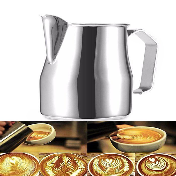 Unique 304 Stainless Steel Pull Flower Cylinder Fancy Milk Cup Coffee Appliance 500ml