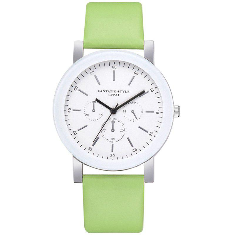 Discount Lvpai P674 Fashion Three-eye Casual Candy Color Belt Student Watch