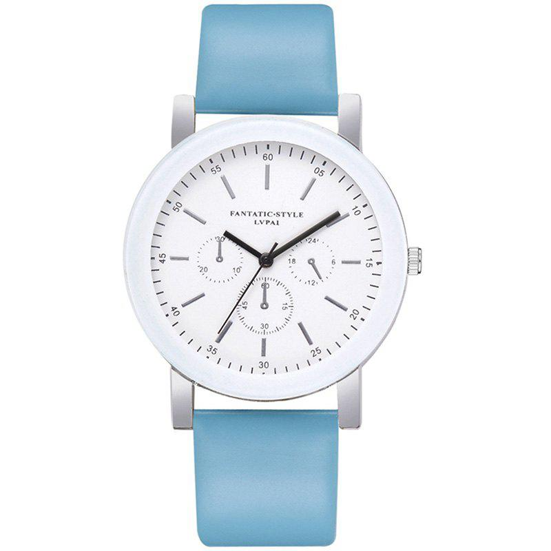 Outfits Lvpai P674 Fashion Three-eye Casual Candy Color Belt Student Watch