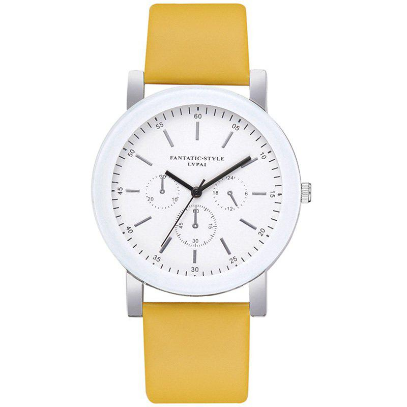 Outfit Lvpai P674 Fashion Three-eye Casual Candy Color Belt Student Watch