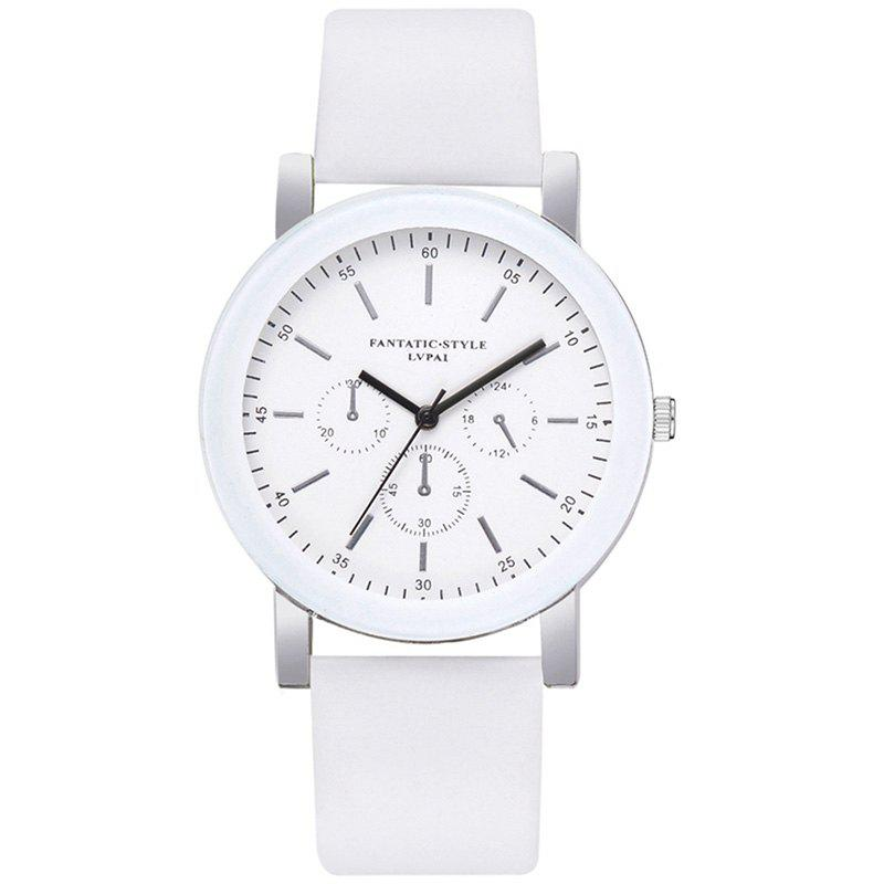 Best Lvpai P674 Fashion Three-eye Casual Candy Color Belt Student Watch