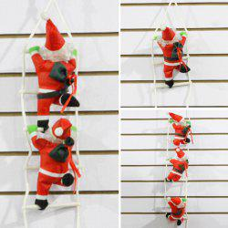 7 - ZZLJ7383 - I47.3.06 Red Sling Christmas Decoration Polyester Ornaments Santa Claus Climbing Rope Ladder -