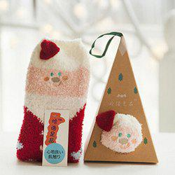 7 - ZHGZ4335 - A58.3.07 Embroidered Three-dimensional Home Coral Velvet Cartoon Christmas Stockings -