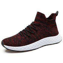 1680 Autumn Winter Light Woven Breathable Casual High Socks Running Shoes for Men -