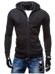 6004 Stylish Men's Hoodie with Zipper -