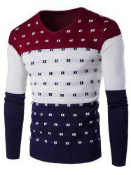 SYWT0196 Stylish Men's Color Matching Warm Sweater -