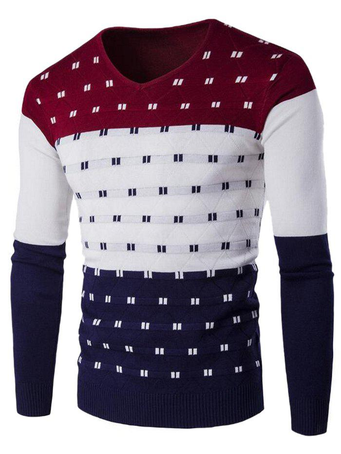 Online SYWT0196 Stylish Men's Color Matching Warm Sweater