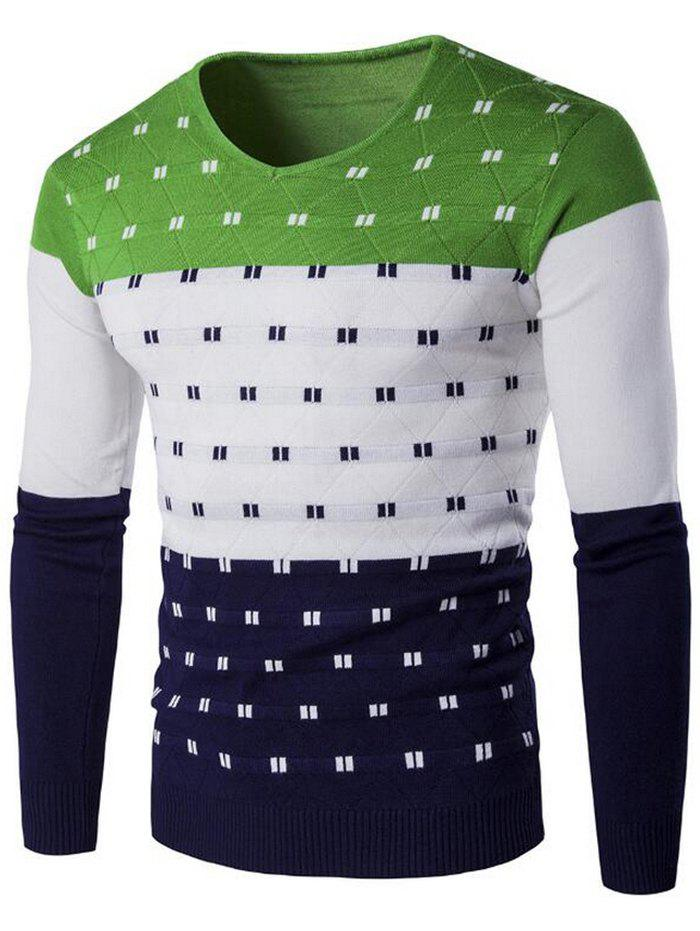 Trendy SYWT0196 Stylish Men's Color Matching Warm Sweater