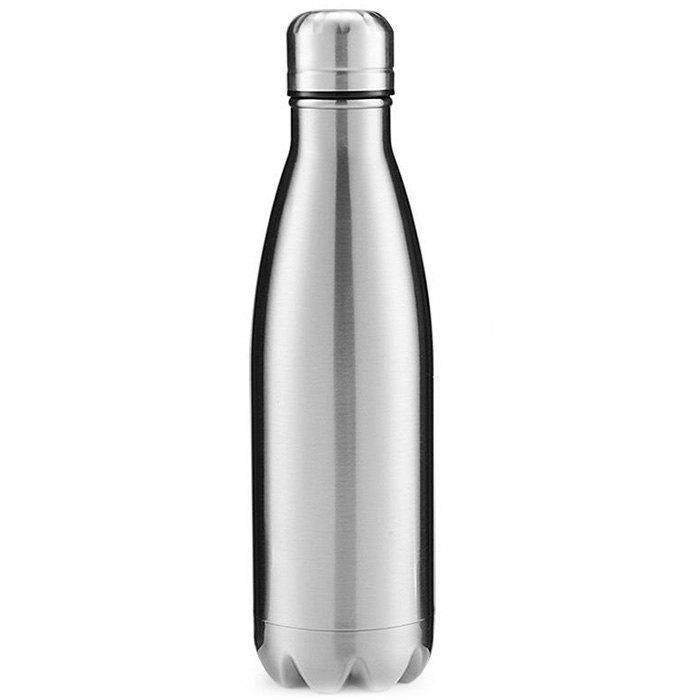 Hot Stainless Steel Vacuum Bottle Lettering Sports Thermos Coke Cup Creative Gift
