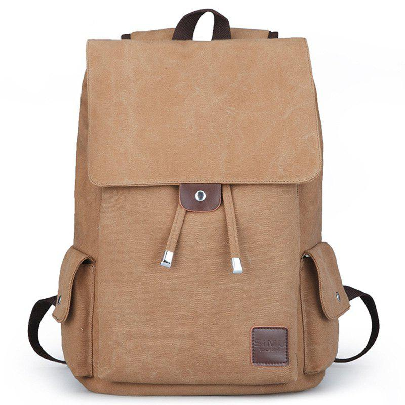 Affordable Canvas Student Travel Simple Backpack