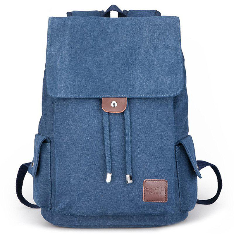 Unique Canvas Student Travel Simple Backpack
