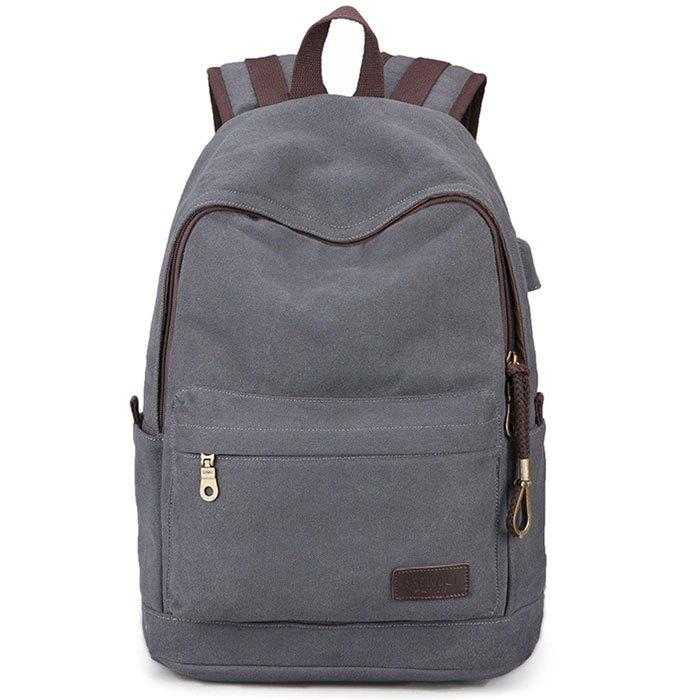 Chic Computer Outdoor Sports Rechargeable Zipper Backpack