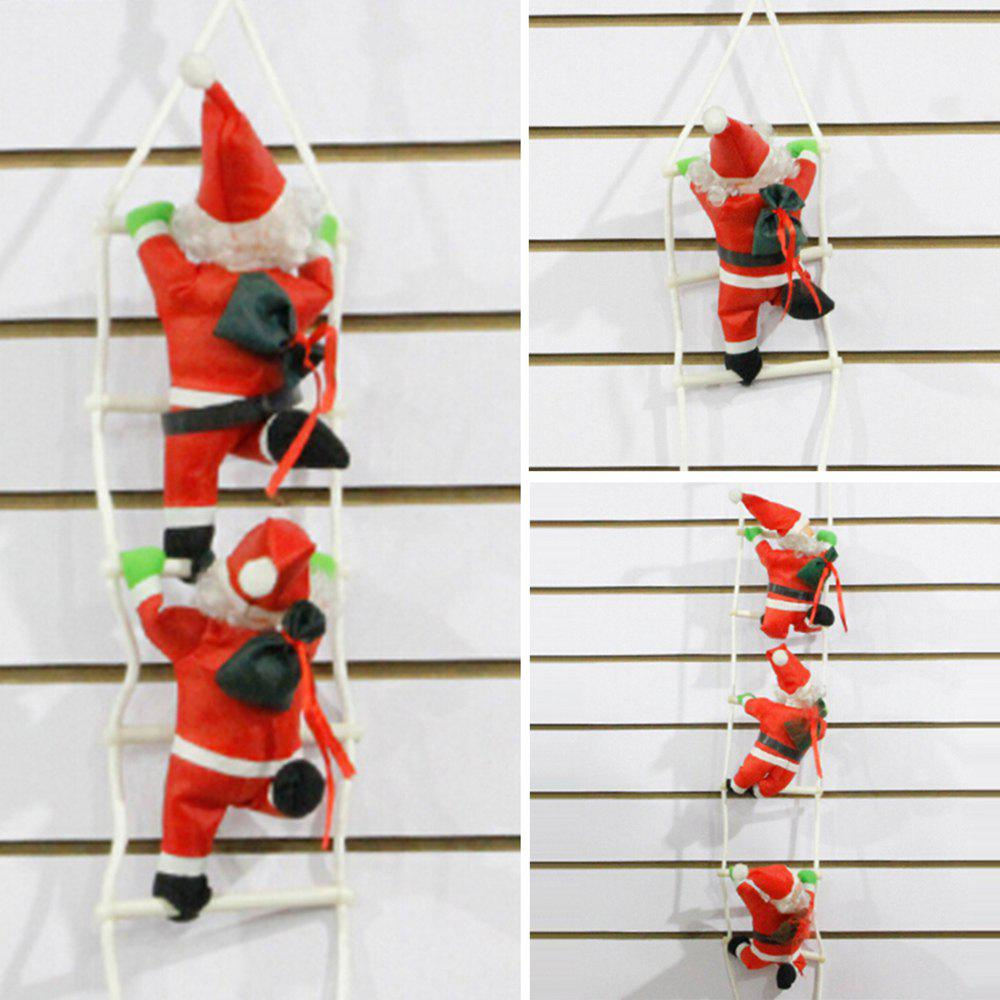 New 7 - ZZLJ7383 - I47.3.06 Red Sling Christmas Decoration Polyester Ornaments Santa Claus Climbing Rope Ladder