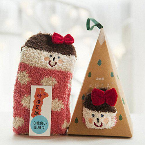 Outfit 7 - ZHGZ4335 - A58.3.07 Embroidered Three-dimensional Home Coral Velvet Cartoon Christmas Stockings