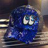 Reflective Sequins Eye Visor Peaked Cap -