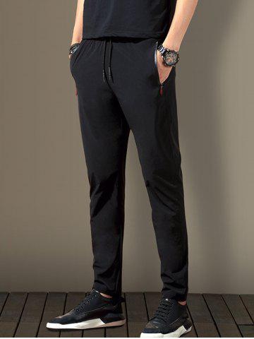 5188 - A446 Korean Version of Slimming Trend Youth Autumn Sports Velvet Men's Casual Pants