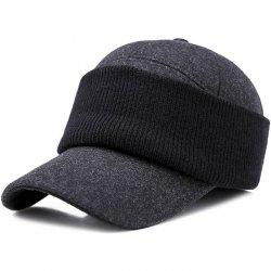 Men Hat Outdoor Middle-aged Thick Warm Eye Protection Wild Casual Cap -