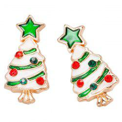 BA312 - A Christmas Tree Stud Earrings 1 Pair -