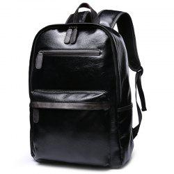 Casual Backpack Men's Student Leather Fashion Trend Sports Travel Computer Bag -