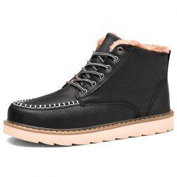 Autumn and Winter Handmade Stitching Plus Cotton Men Boots -