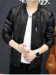6113 - A446 Young Handsome PU Leather Jacket Korean Slim Locomotive Clothing for Men -