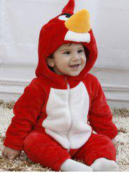 SWTE - 0003 Spring And Autumn Red Bird Shape Single Layer Romper Climbing Suit -