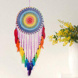 Décoration à suspendre en plume Dream Catcher - Violet Aimable 1PC