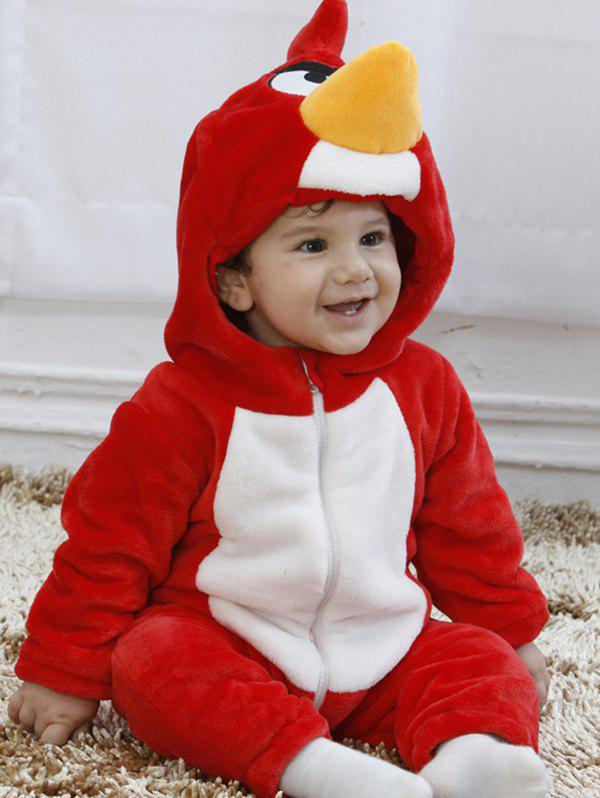 New SWTE - 0003 Spring And Autumn Red Bird Shape Single Layer Romper Climbing Suit