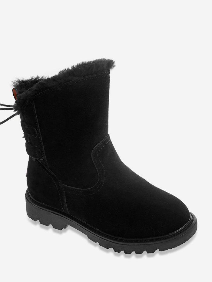 Sale Lacing Back Snow Mid Calf Boots
