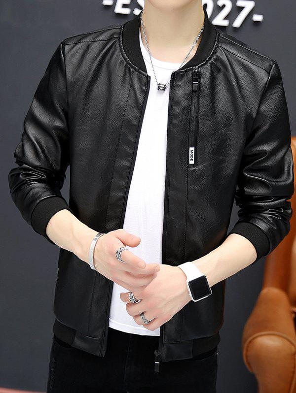 Shops 6113 - A446 Young Handsome PU Leather Jacket Korean Slim Locomotive Clothing for Men
