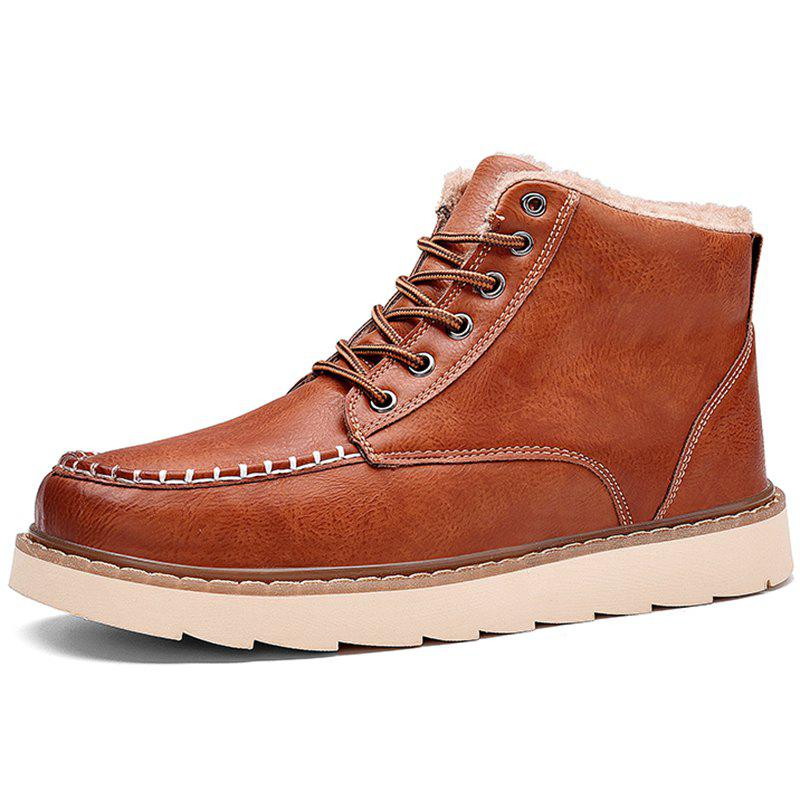 Buy Autumn and Winter Handmade Stitching Plus Cotton Men Boots