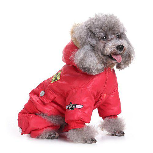 Trendy Air Force Suits Four-legged Winter Pet Dog Clothes
