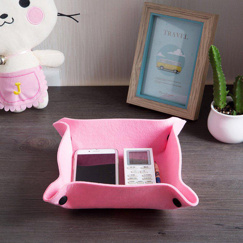 New Printed Felt Fabric Desktop Storage Tray / Box for Coffee Table Sundries Organization