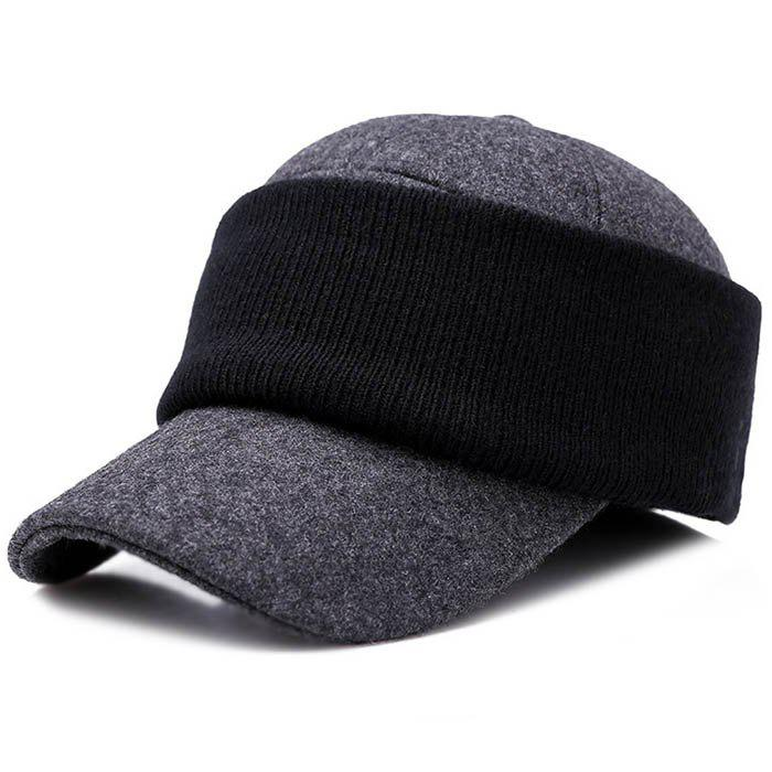 Chic Men Hat Outdoor Middle-aged Thick Warm Eye Protection Wild Casual Cap