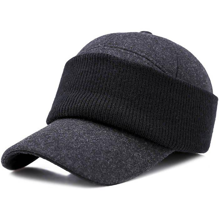 Fashion Men Hat Outdoor Middle-aged Thick Warm Eye Protection Wild Casual Cap