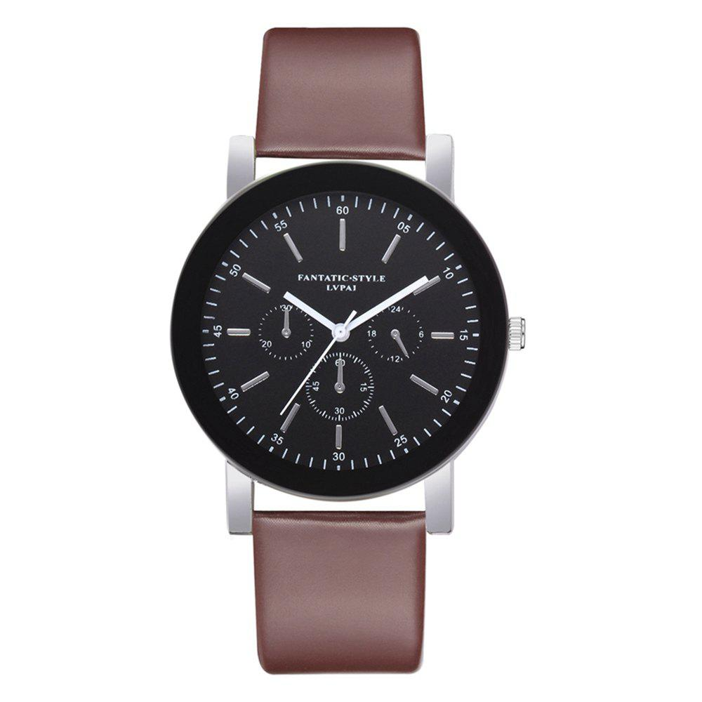 Unique Lvpai P679 Business PU Belt Quartz Watch for Student