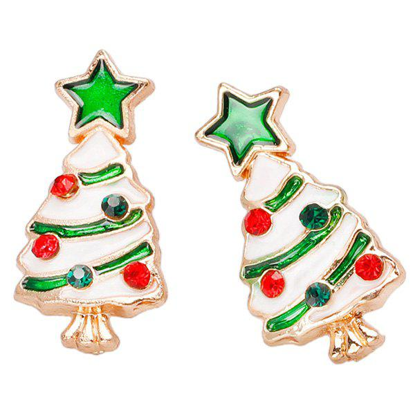 Shop BA312 - A Christmas Tree Stud Earrings 1 Pair
