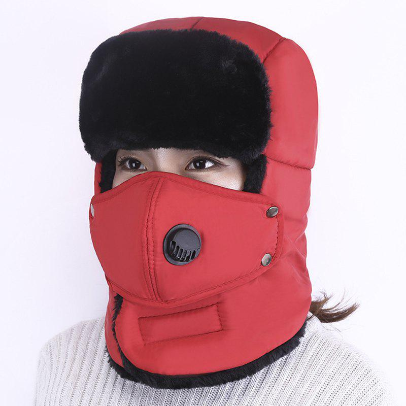 Discount Winter Anti-fog Detachable Mask Lengthened Thick Warm Ear Protection Windproof Cap