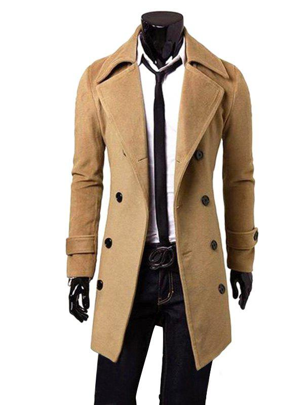 Outfits Men Fashionable Turn-down Collar Long Wind Coat