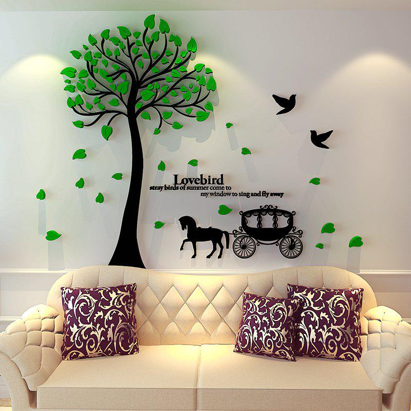 2019 tree carriage acrylic 3d wall sticker european simple